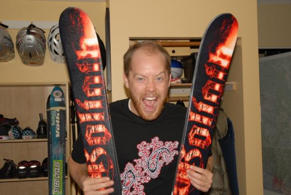 Dre's New SKis