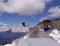 Basejumps and Booters at Momentum Ski Camps