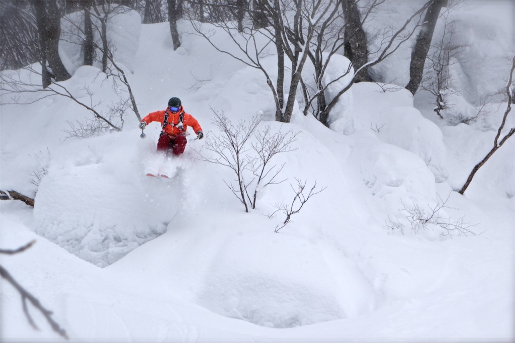 Dave Gheriani blasting out of our favourite storm day pillow zone. Photo: Jamie Bond.