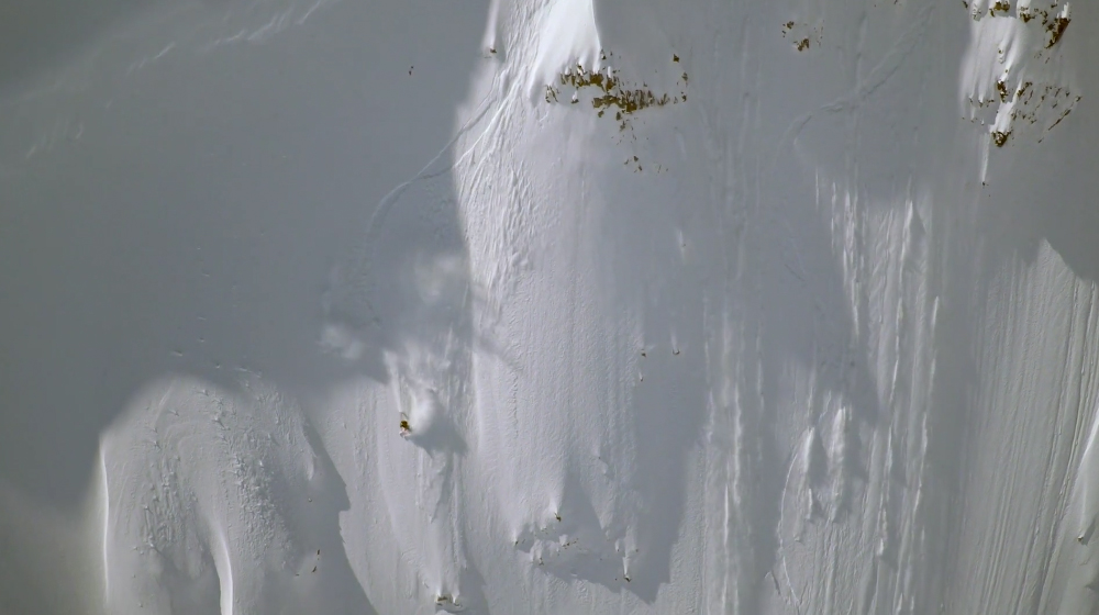 Rubens gettin'er done in Bella Coola. Screengrab from Conquering the Useless.
