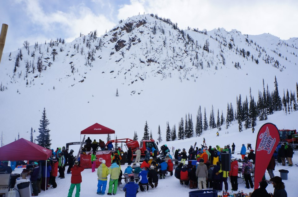 2*WTC Venue. Suckers area at Kicking Horse Resort