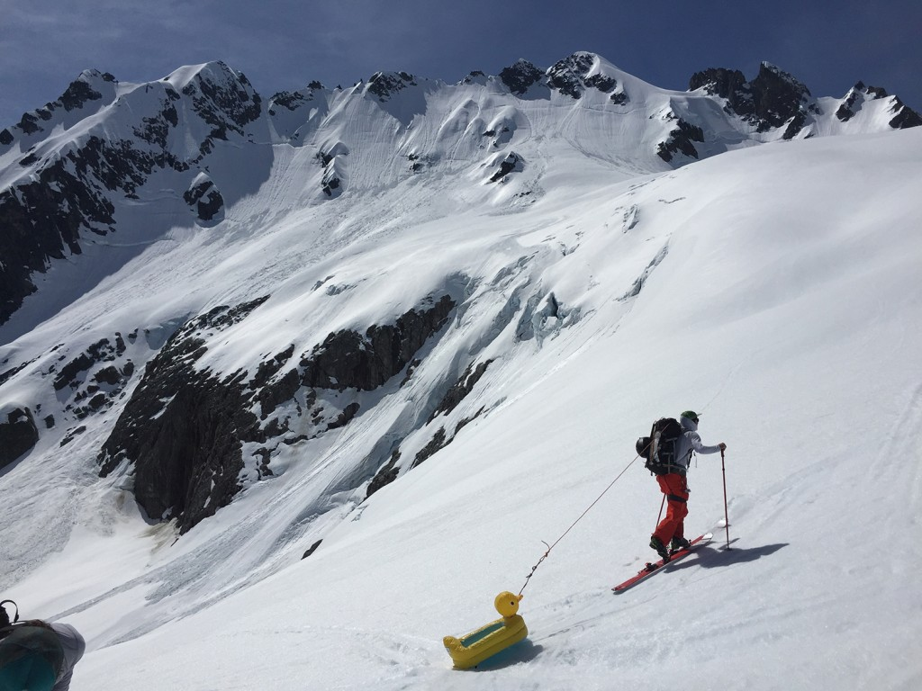 Recent inflatable duck rescue from the Tantalus Range.