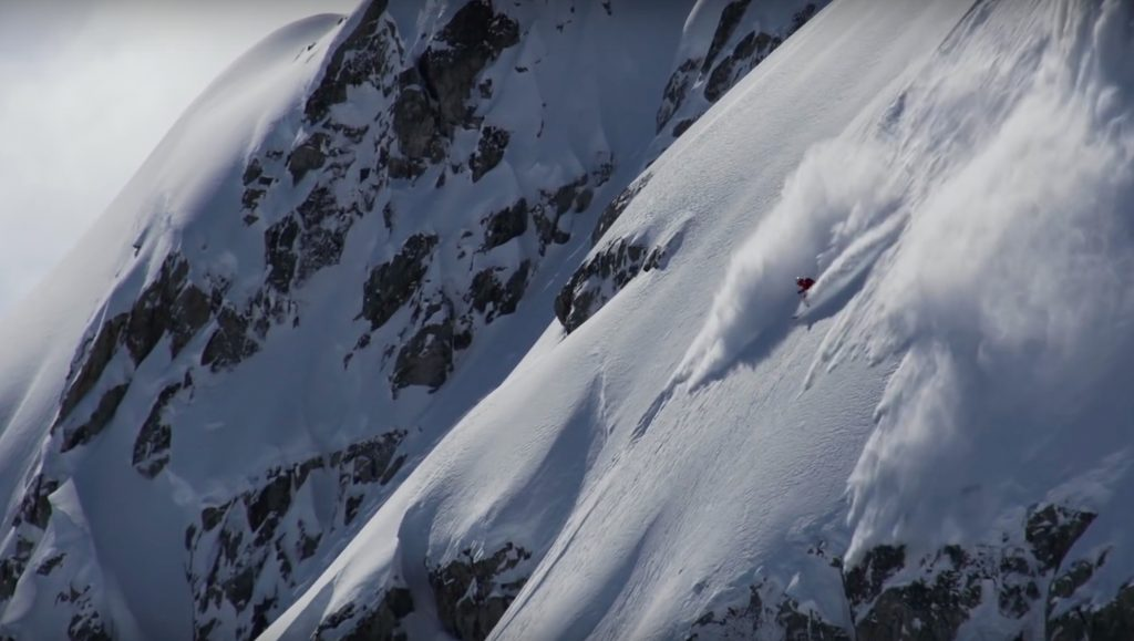 Someone getting rad just outside Whistler Blackcomb's boundary.