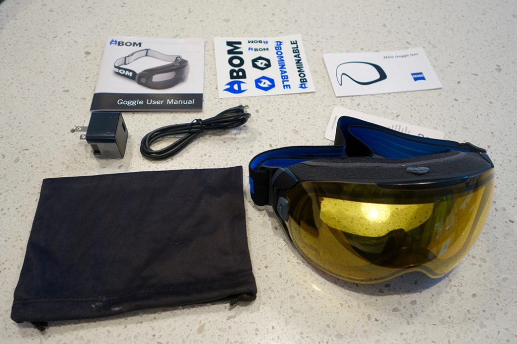 Gotta admit this is the first time my goggles have com with a USB chord and instruction manual.