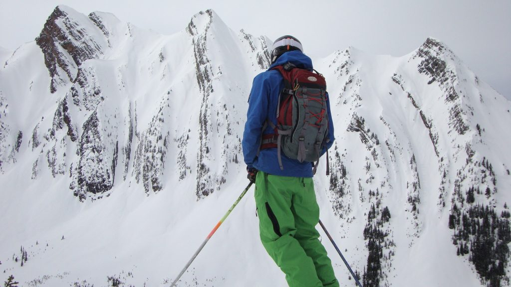 Eyeing up some Kicking Horse 'backcountry near the resort'. Photo provided by Brian Coles.