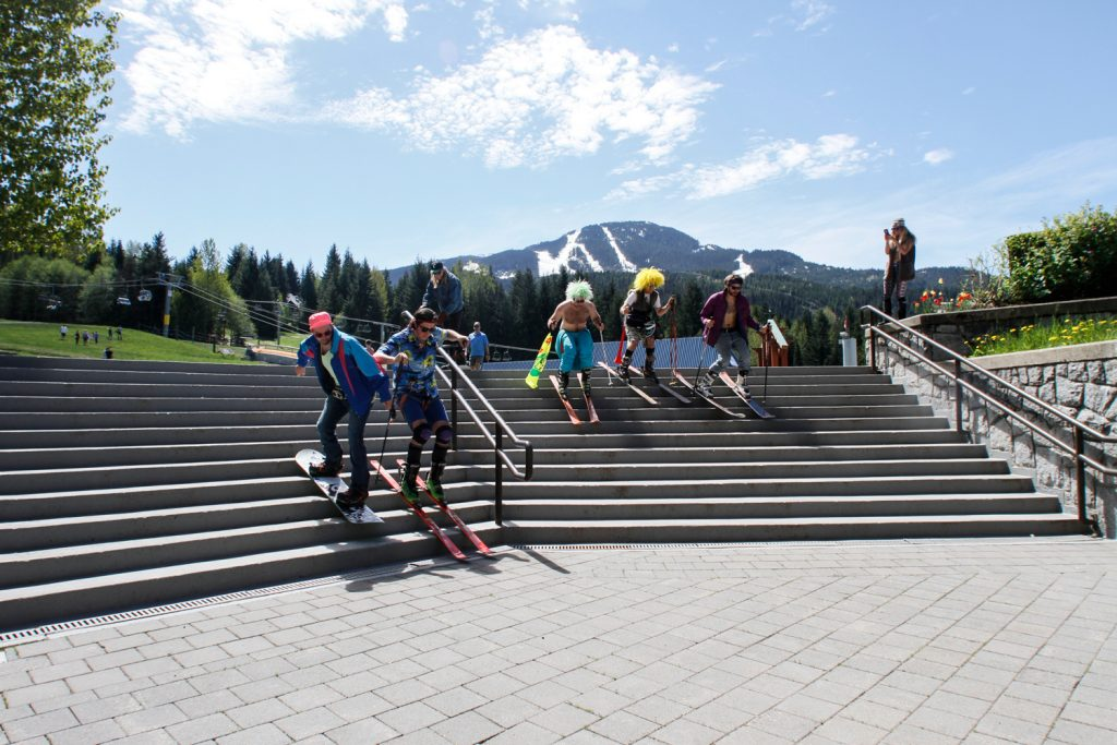 You can't block off ALL the stairs in Whistler. Rich Glass photo.