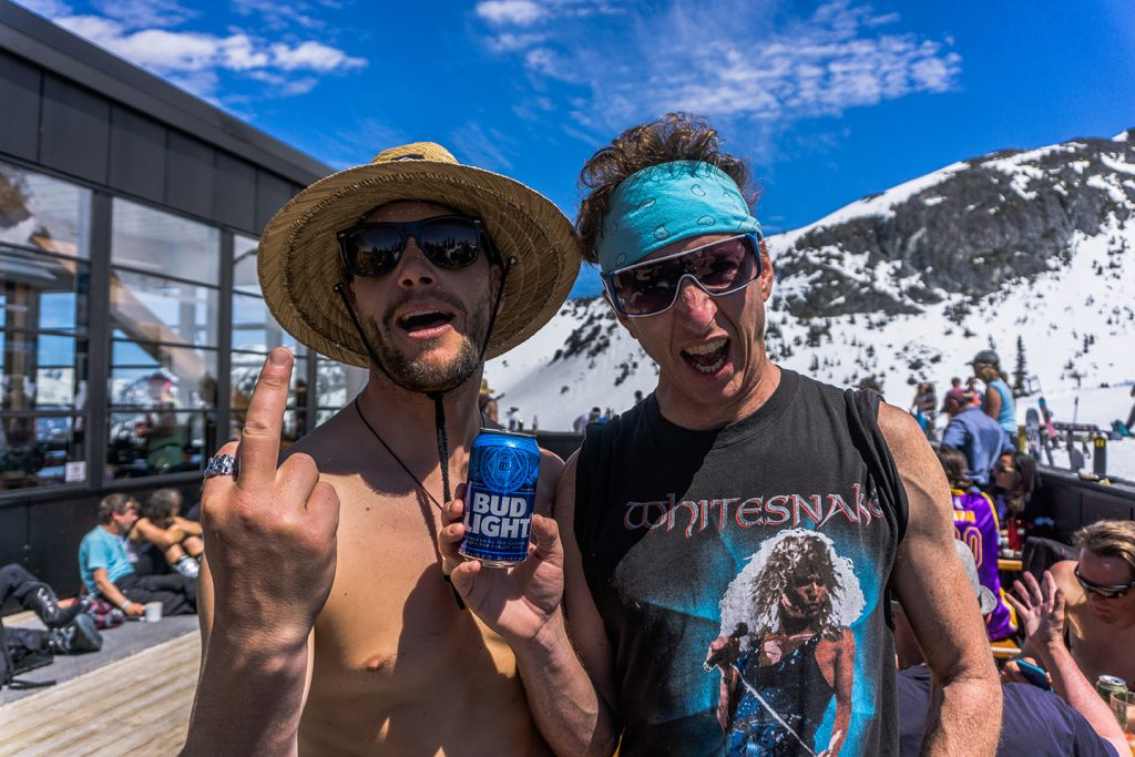The author, bud light, and someone from Whitesnake on a come back tour. Felix Jauvin photo.