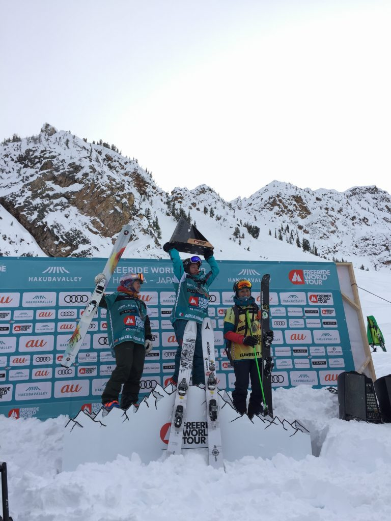 Women's Ski - Birnbaum 2nd, Tricoumi 1st, Walkner 3rd