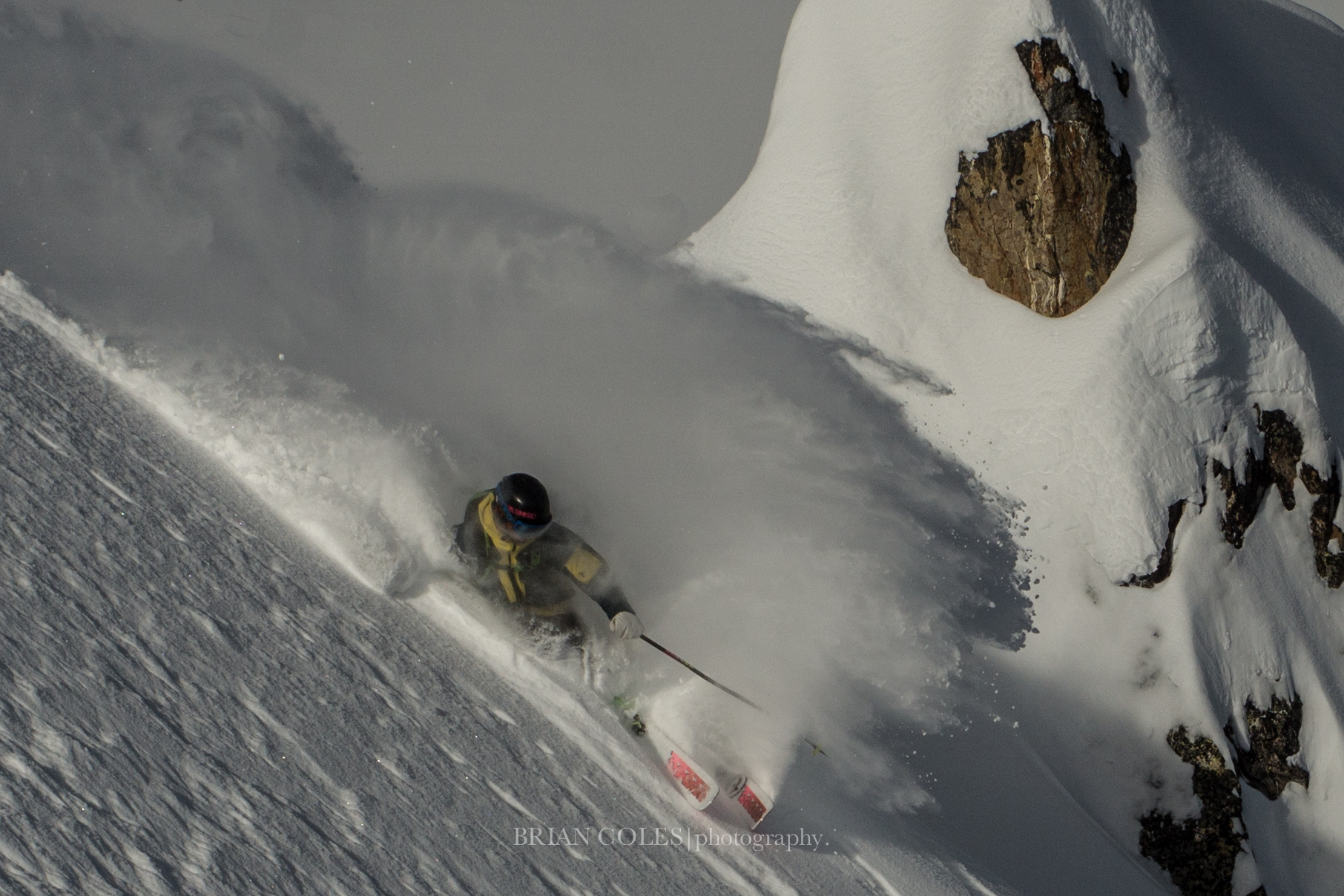 Gary, enjoying laying a deep turn while he is outside of the Rocky Mountains. P: Brian Coles