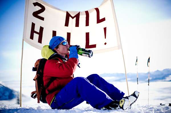 Greg Hill World Record! Climbed & Skied 2 Million Feet