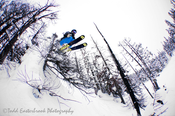 Whistler Photographers, Todd Easterbrook and Jeff Boyce, with Skier – Luke Aalgaard.