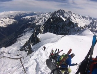 Classic Laps on Aiguille Du Midi – In 55 Seconds