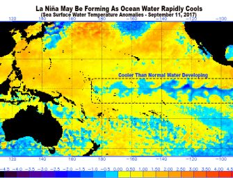 The Chance of a La Nina For the 2017-2018 Winter Just Rose From 22% to 60%