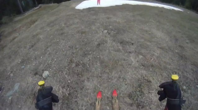 1200 ft Grass Skiing – Gaper Day 2010 Moments #4
